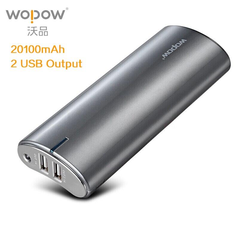 imágenes para WOPOW 20100 mAh banco de potencia de Alta Capacidad de la Energía Del Teléfono Móvil Dual USB Batería Externa Cargador Rápido LED Flashlight Powerbank