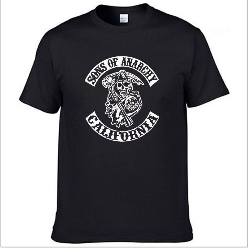 SOA Sons of anarchy die kind Mode SAMCRO Druck T-Shirt Männer/frauen Mode Hip Hop kurzarm Baumwolle Casual herren T Shirts