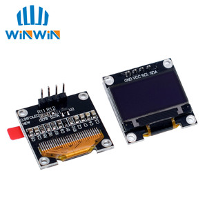 "Image 2 - 10pcs 0.96 ""SPI/IIC I2C Comunicare bianco/blu/giallo blu 0.96 pollici OLED modulo 128X64 OLED Modulo Display LCD Per ARDUINO"