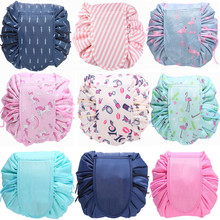 Women Travel Magic Pouch Drawstring Cosmetic Bag Organizer L