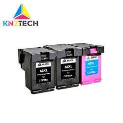 3 sztuk 62XL wymiany pojemnika z tuszem do 62 XL for62 Envy 5640 OfficeJet 200 5540 5740 5542 7640 drukarki
