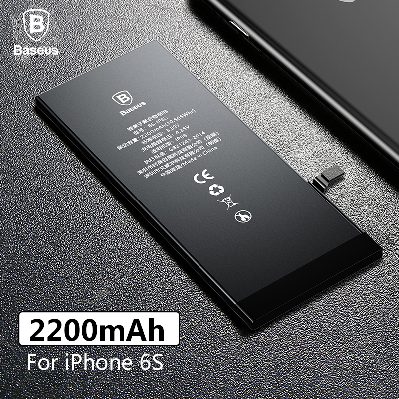 Baseus Original-Lithium-Polymer-Batterie Für Apple iPhone 6 S 6SG Interne Batterie Hohe Kapazität 2200 mAh Bateria Freies Werkzeug