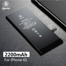 Baseus Original Lithium Polymer Battery For Apple iPhone 6S 6SG Internal Batterie High Capacity 2200mAh Bateria Free Tool cheap UL FCC CE RoHS 1801mAh-2200mAh Baseus Original High Capacity 2200mAh Phone Battery For iPhone 6S Compatible Li-ion Polymer Batterty