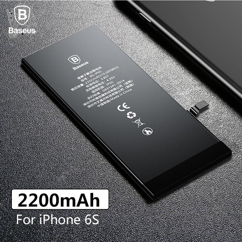 Baseus Original batería de polímero de litio para el iPhone de Apple 6 s 6SG interna Batteria de alta capacidad 2200 mAh herramienta gratuita de venta al por menor paquete
