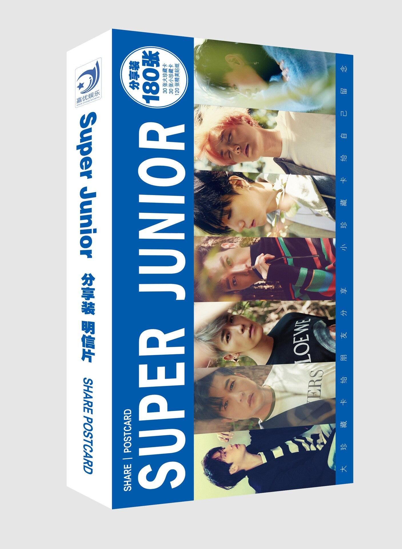Kpop Super Junior SJ Leeteuk Heechul Yesung Fanart Postcard Post Cards Sticker Artbook Gift Cosplay Props Book Set Collection