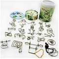 New Arrival 24 PCS/Set IQ Metal Wire Puzzle for Children/Adults,Creative Brain Teaser Puzzles Game Educational Toys