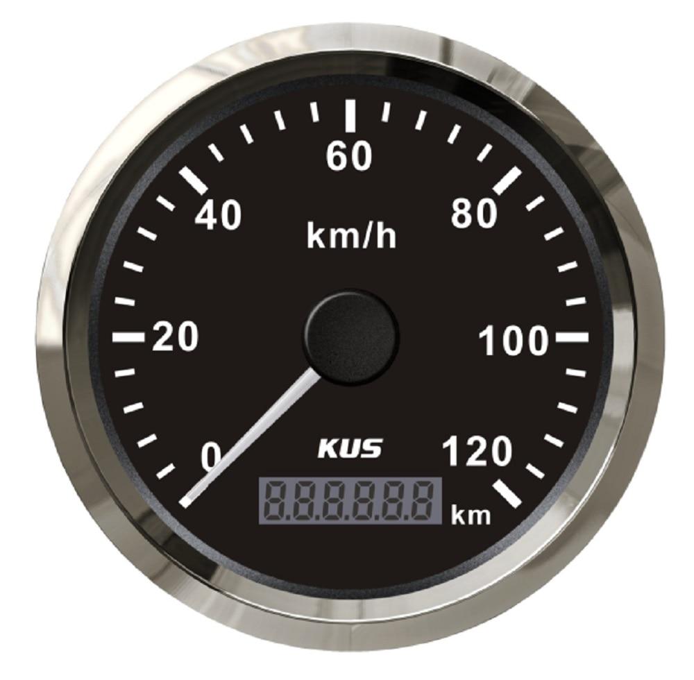KUS Warranted 85mm GPS Speedometer Odometer 120KM H For Car Motorcycle Trucks ATV UTV 12V 24V