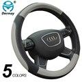 Dermay 5 colores estilo cubiertas de coche cubierta del volante deportivo de cuero, estilo cabido la mayoría de coches de fábrica al por mayor de alta calidad