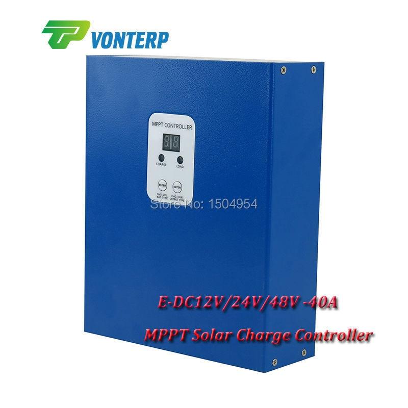 MPPT Solar Charge Controller 40A DC12V/24V/48V40A solar charge controller  MPPT solar charge controller 48V 40A mppt solar charge controller 48v 40a 12v 24v 48v auto work with rs232 lan dc load ctrl 40a 48v pv regulator easy