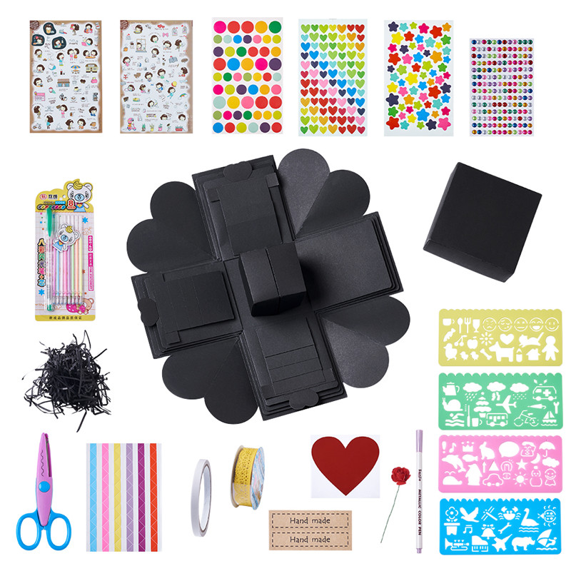 Pandahall Explosion Box, Love Memory Multi-layer Surprise, DIY Photo Album As Birthday Anniversary Gifts, Mixed Color, 12.7cm