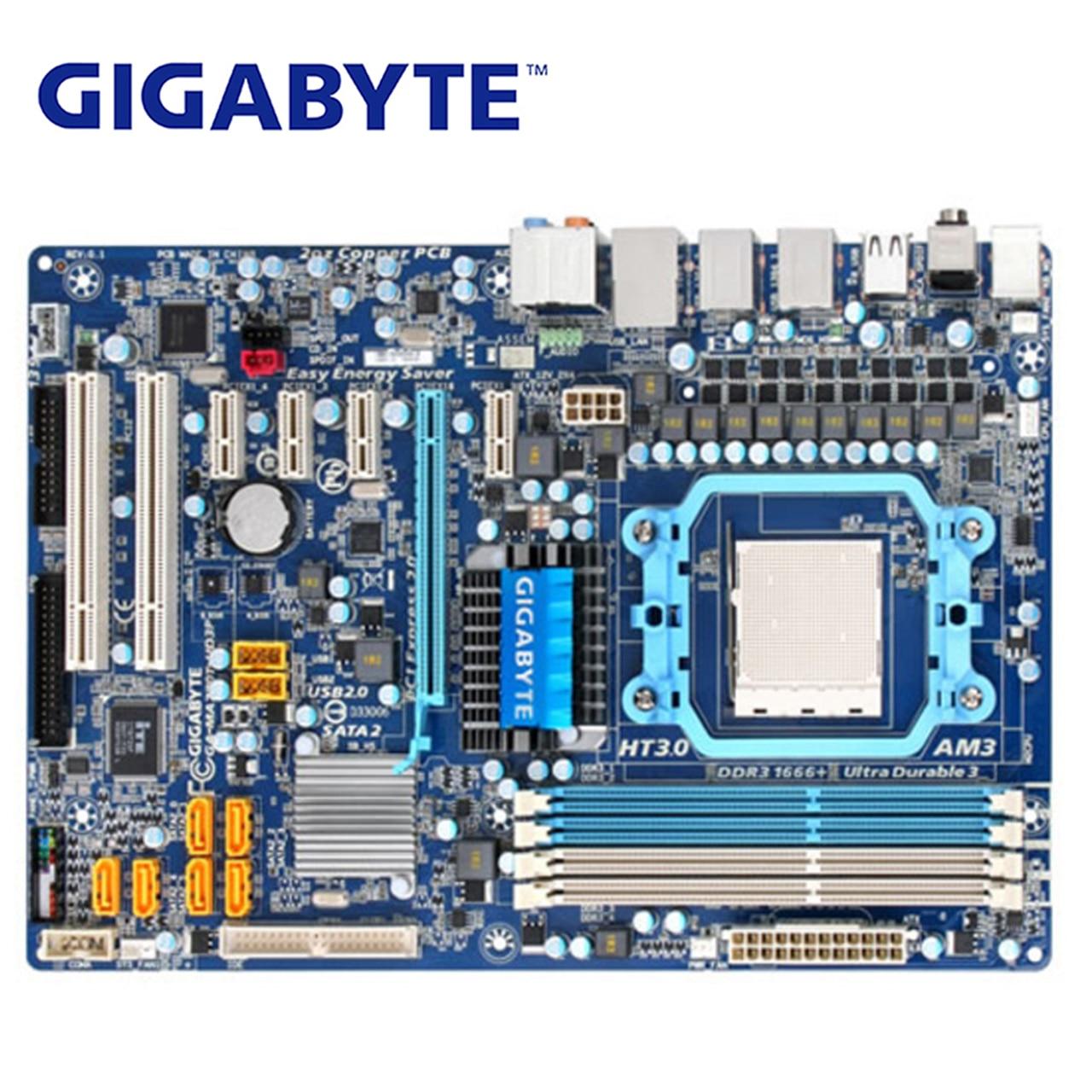 Para AMD AM3 Gigabyte GA-MA770T-UD3P placa base DDR3 USB2.0 16G hembra MA770T MA 770 770 UD3P placa base de escritorio Systemboard utilizado