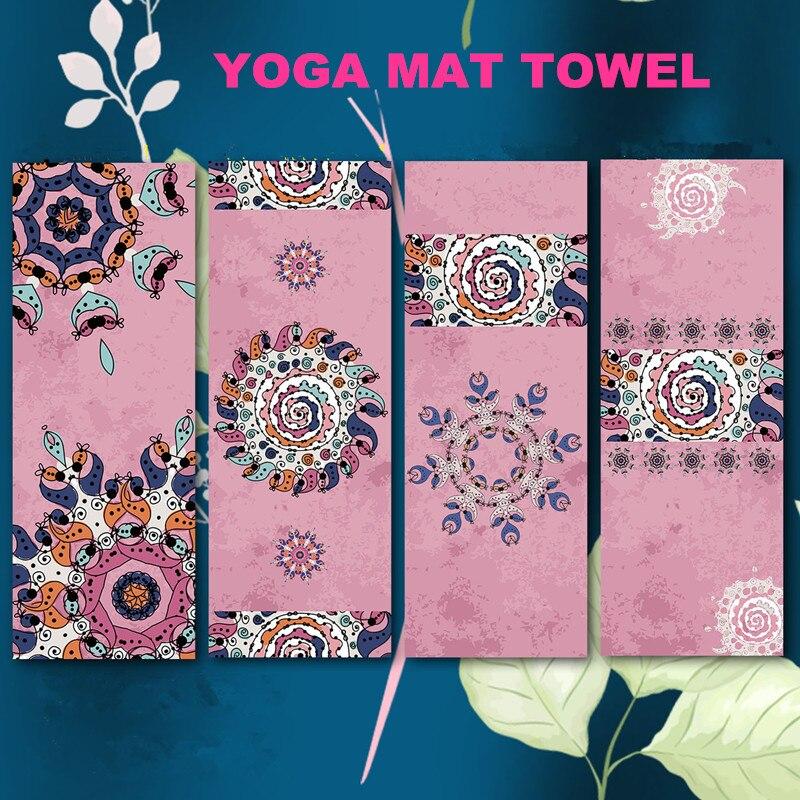 Nouveau microfibre Style indien tapis de Yoga serviettes Fitness Pilates exercice serviettes de plage pour adultes tapis de Yoga serviette douce