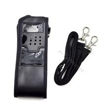 XQF 2pcs Radio Soft Leather Case Holder for Walkie Talkie Baofeng 3800mAh UV 5R UV 5RA Plus UV 5RE Plus UV5R Portable Radio