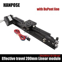 NEW Openbuilds Mini V Linear Actuator Effective Travel 200mm Linear Module With NEMA17 Stepper Motor For