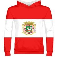 PUERTO RICO male youth diy free custom made photo pri boy zipper sweatshirt nation flag pr rican spanish country college clothes