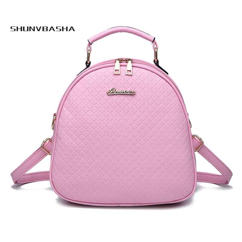2017 Lovely Mini backpack Fashion Women rhomboids Shoulder Girl Casual Small Backpack Rivet Bag backpacks for