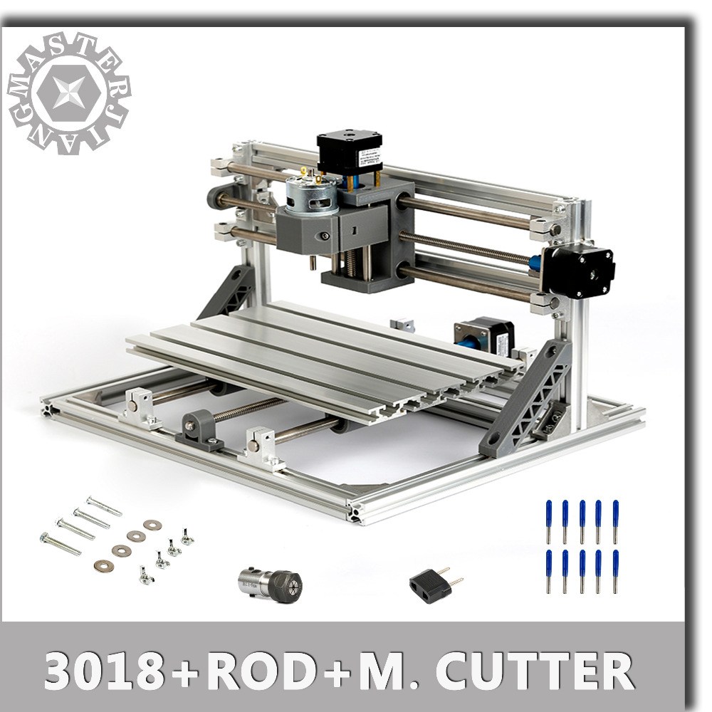 US $111 8 48% OFF|CNC 3018+ER11 5mm Extension Rod+V Milling Cutters Laser  Engraving DIY mini Engraving Machine Pcb PVC Milling Wood Router Machine-in