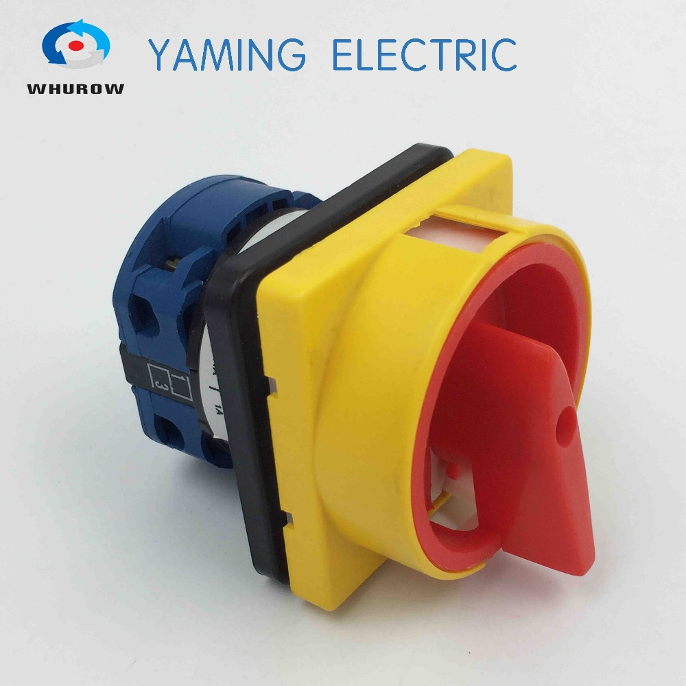 Factory supplied 690V 20A Padlock Rotary Cam Switch OFF-ON 2 position 1 Pole 4 terminals main switch emergency stop