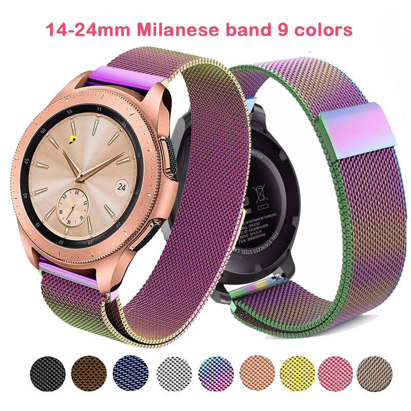 Milanese Watch Strap For Samsung Gear S3 Band 22mm Galaxy 42/46mm Active Watch S2 Classic Stainless Steel Milanese 20mm Bands