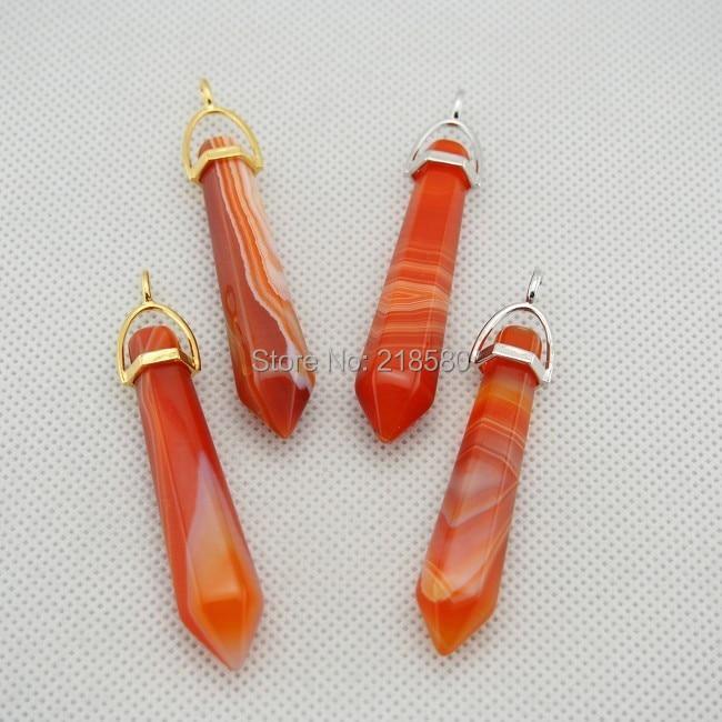 C02P02045 оранжевые кружевные Агаты точечная подвеска Исцеление чакры в рейки духовная подвеска-маятник с золотым или серебряным поручнем 55 мм