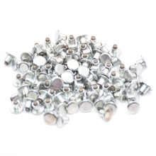 100 pcs/lot Universal Car Tires Studs Spikes Wheel Tyres Snow Chains 6.5mm For Motorcycle Vehicle Truck Winter