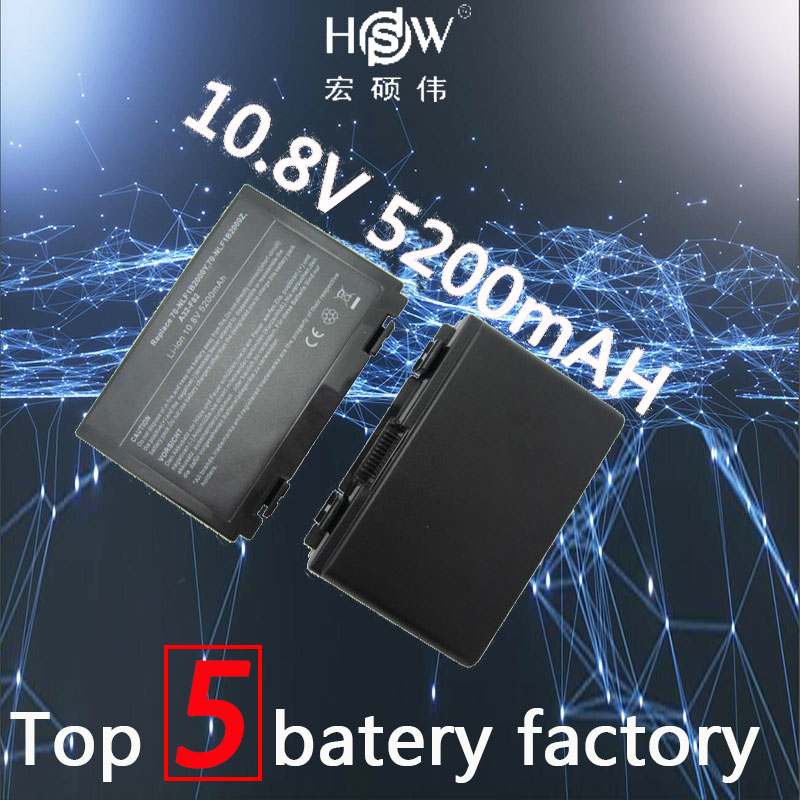 HSW 5200MAH 6cells Battery For Asus K50AB K70 A32-F52 F82 K50I K60IJ K61IC K50C K50ID k50IE K50IL K50IP K50X K51A K51AB bateria gzeele new laptop lcd back cover case for asus k50 k50ab k50ad k50ae k50af k50c k50i k50id k50ij k50in k50il k50ip k50ie a shell