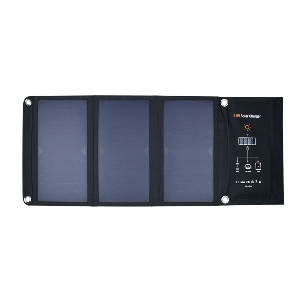 все цены на 15W/21W Portable Waterproof Solar Charging Panel USB Solar Charger Foldable 5V Outdoor Charger Panel