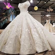AIJINGYU בתוספת גודל חתונה שמלות עם רויאל כדור לבן Boho Modests אירוסין קלאסה שמלות חתונה שמלת צ כיה