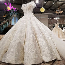 AIJINGYU فساتين زفاف كبيرة الحجم مع الكرة الملكية الأبيض بوهو Modests المشاركة فساتين أنيقة فستان الزفاف جمهورية التشيك