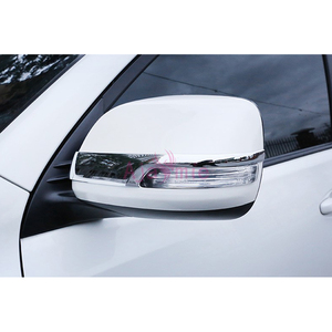 Image 4 - Chrome Car Styling Door Mirror Overlay Rearview Trim 2012 2013 2014 2015 2016 2017 2018 For Toyota Land Cruiser 200 Accessories