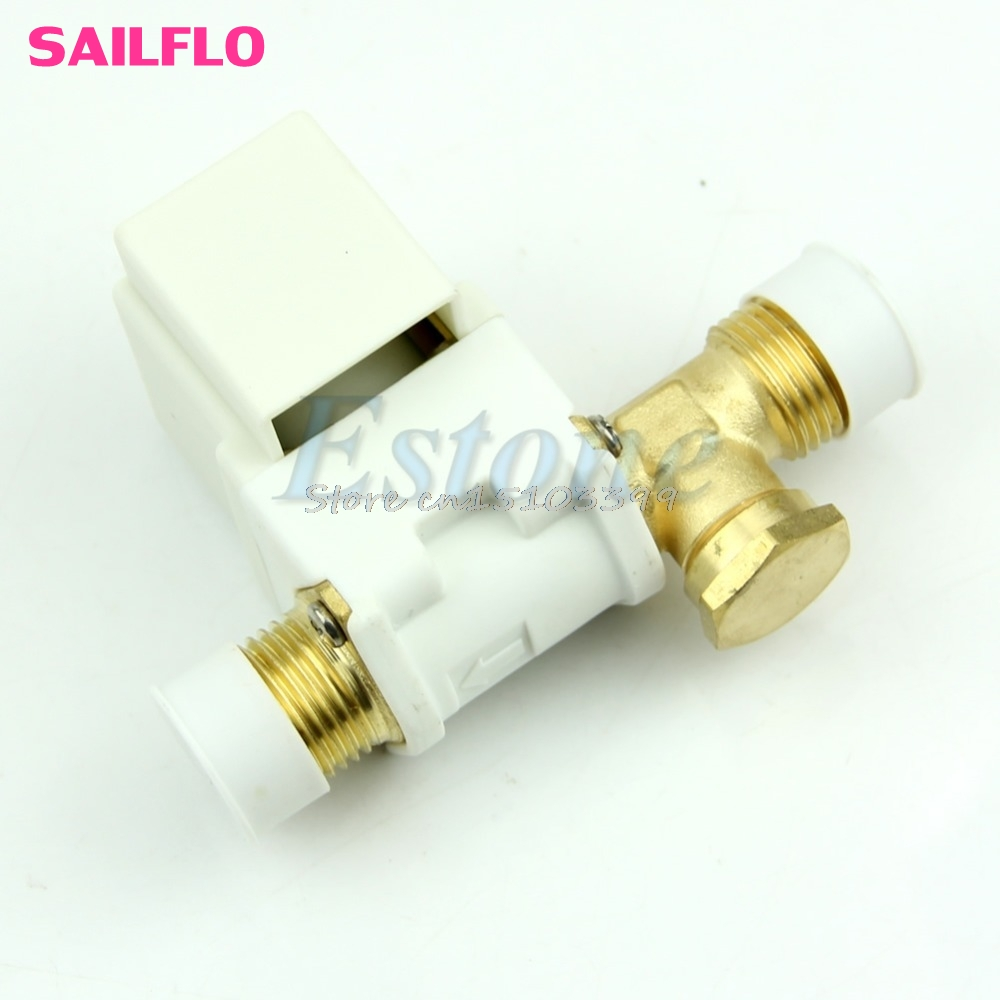 AC 220V 1/2 Electric Solenoid Valve For Water Air N/C Normally Closed New G08 Drop ship new rotation solenoid valve kwe5k 31 g24ya50 for excavator sk200 6e