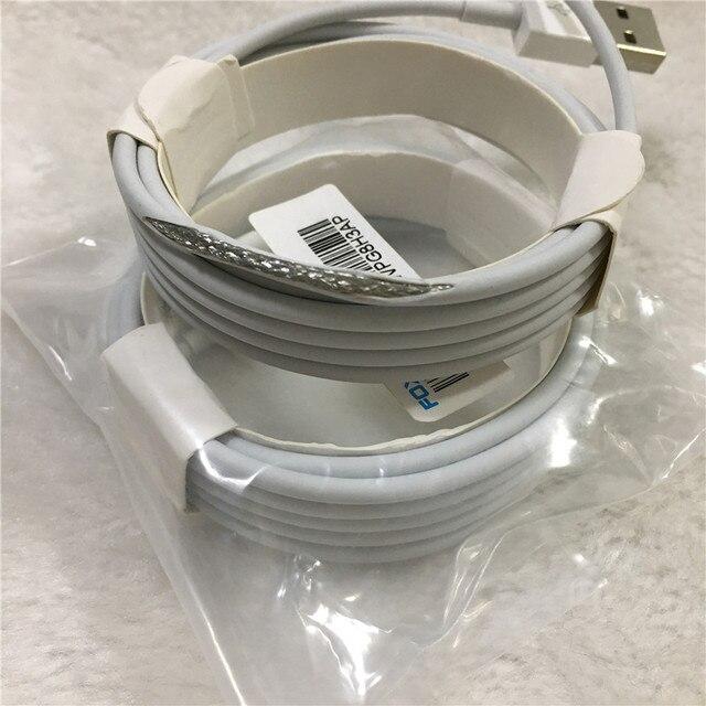 10pcs/lot Original 2m/6FT E75 Chip OD 3.0mm 100% Data USB Cable For Foxconn 5S 6 6s 7 7plus 8 8pl With retail box