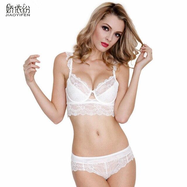 16a6b4d3593 2016 Hot Brand Women Sexy Bra Set Ultra-thin Red Lace Bra Brief Sets Plus  Size Brassiere Push Up Bra and Panties Underwear Set