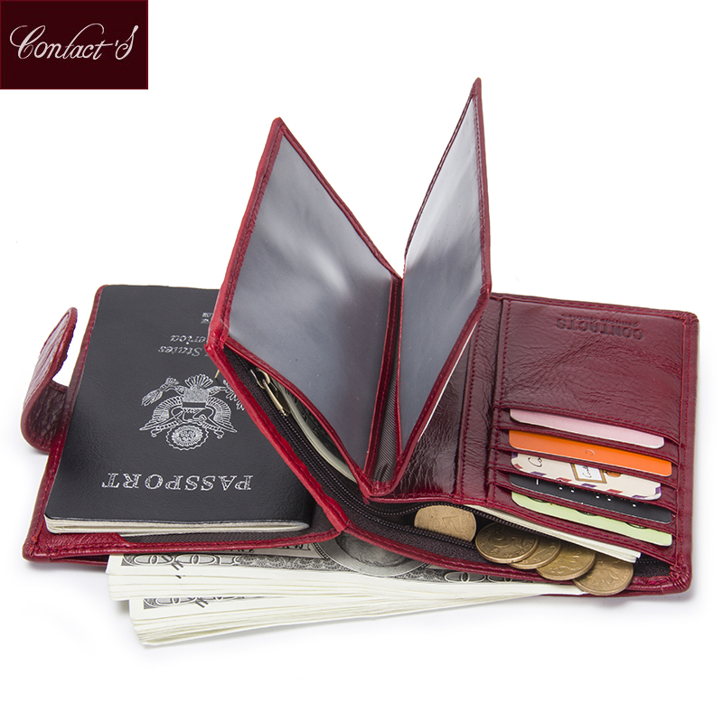 Luxury Brand Women Genuine Leather Passport Wallet Travel Wallets Money Purse With Passport Cover And License Card Holder Case p kuone business men purse famous luxury brand coin credit card holder male travel long wallet passport cover leather money bag