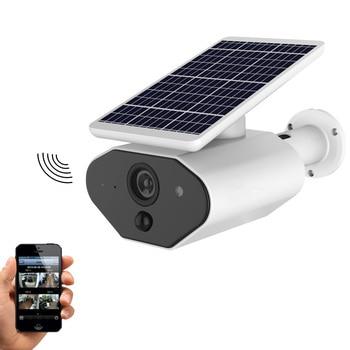 Caméra solaire de sécurité extérieure WiFi caméra IP65 étanche certifiée HD 1080 px