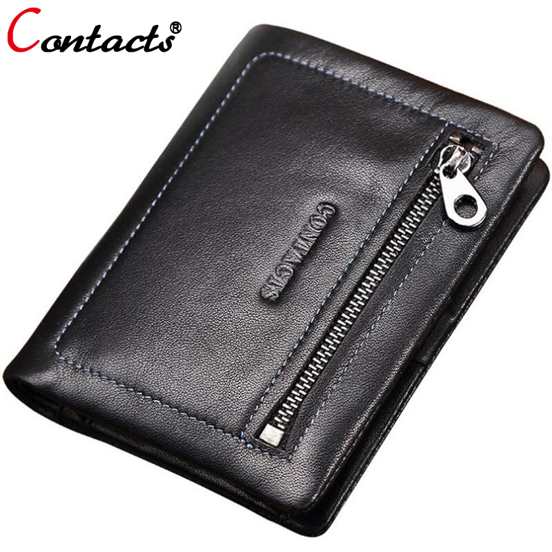 CONTACT'S 100% Genuine leather men wallets famous brand money clip dollar price purse short zipper high capacity fashion new  bvlriga women wallets famous brand leather purse wallet designer high quality long zipper money clip large capacity cions bags
