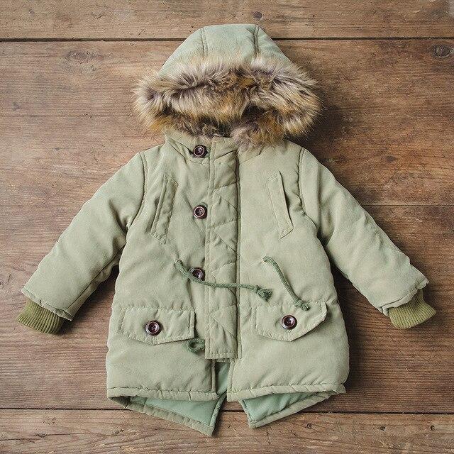 Hot Sale 2016 Winter Jacket Thick Warm Hooded Long Sleeve Children Parkas Baby Boy Clothes Kids Jacket Coat Boy Girl Parkas