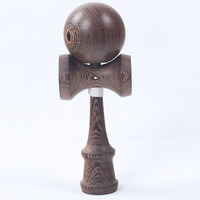 Wenge Wooden KENDAMA Length: 18cm ball diameter:5.5cm juggle skillful ball game toy kid kit child japanese traditional