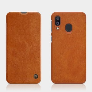 Image 4 - For Samsung Galaxy A40/A50/A10/A30 Cover case Nillkin Qin PU Luxury Flip leather back cover wallet case