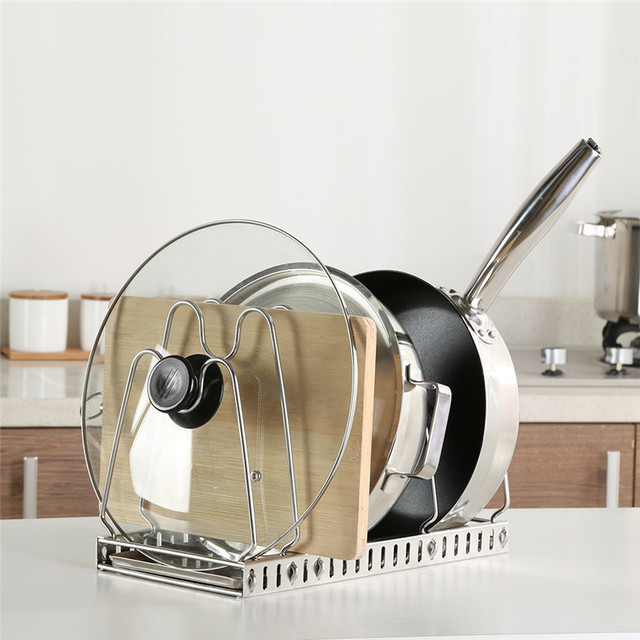 Funktionale Topf Deckel Rack Edelstahl Kitchen Organizer Pan
