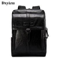 Fashion Casual Leisure Solid Men Backpack Waterproof PU Travel Bag Man Large Capacity Teenager Male Mochila Laptop Backpacks