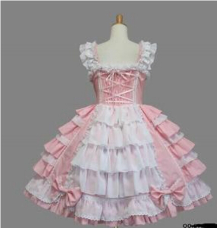 FREE SHIPPING Halloween Victorian Gothic Lolita Dress Cosplay Long Tiered Layered Women Skirt Any Size