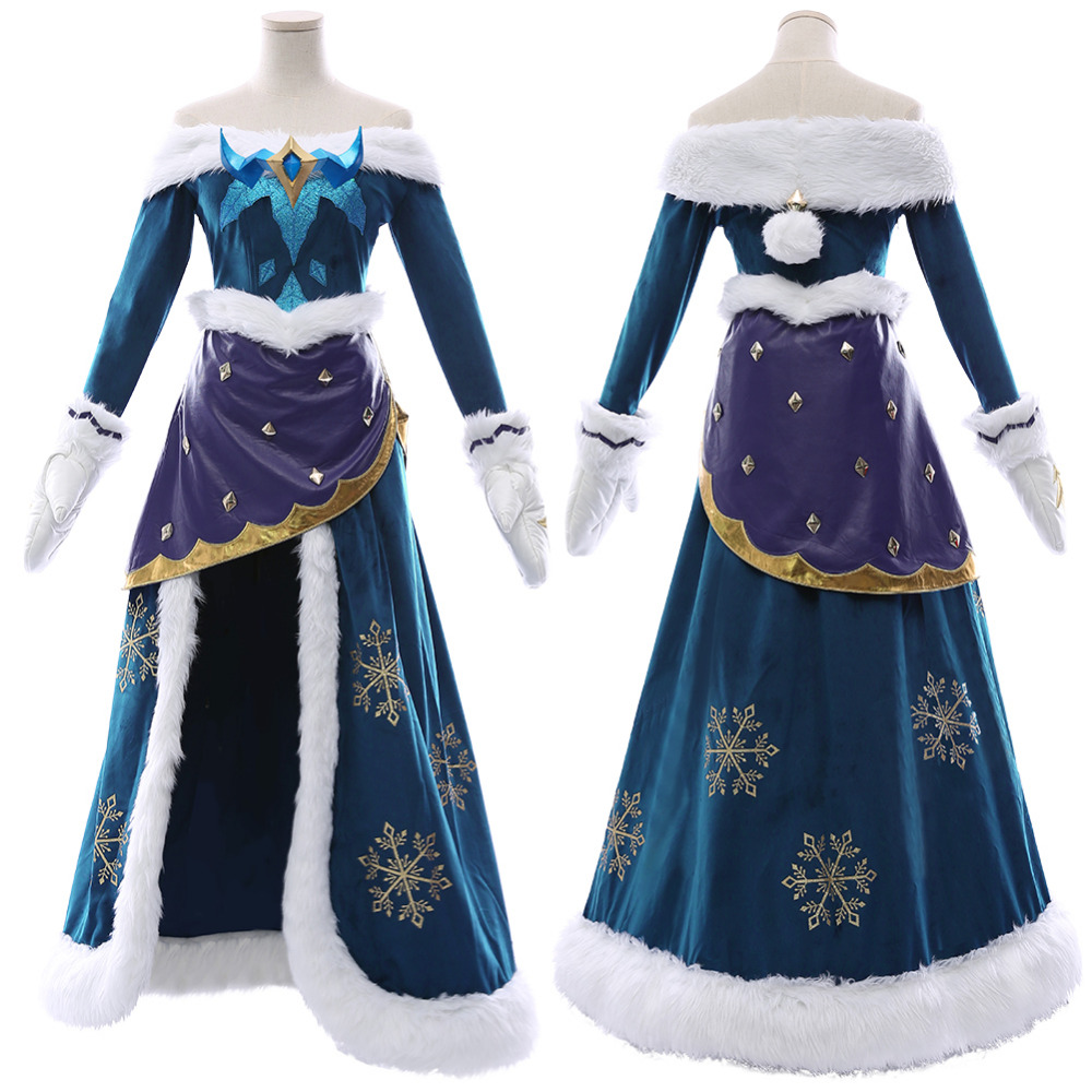 LOL Soraka Cosplay Costume Snowdown Skin Outfit Dress Halloween Party Costumes Carnival