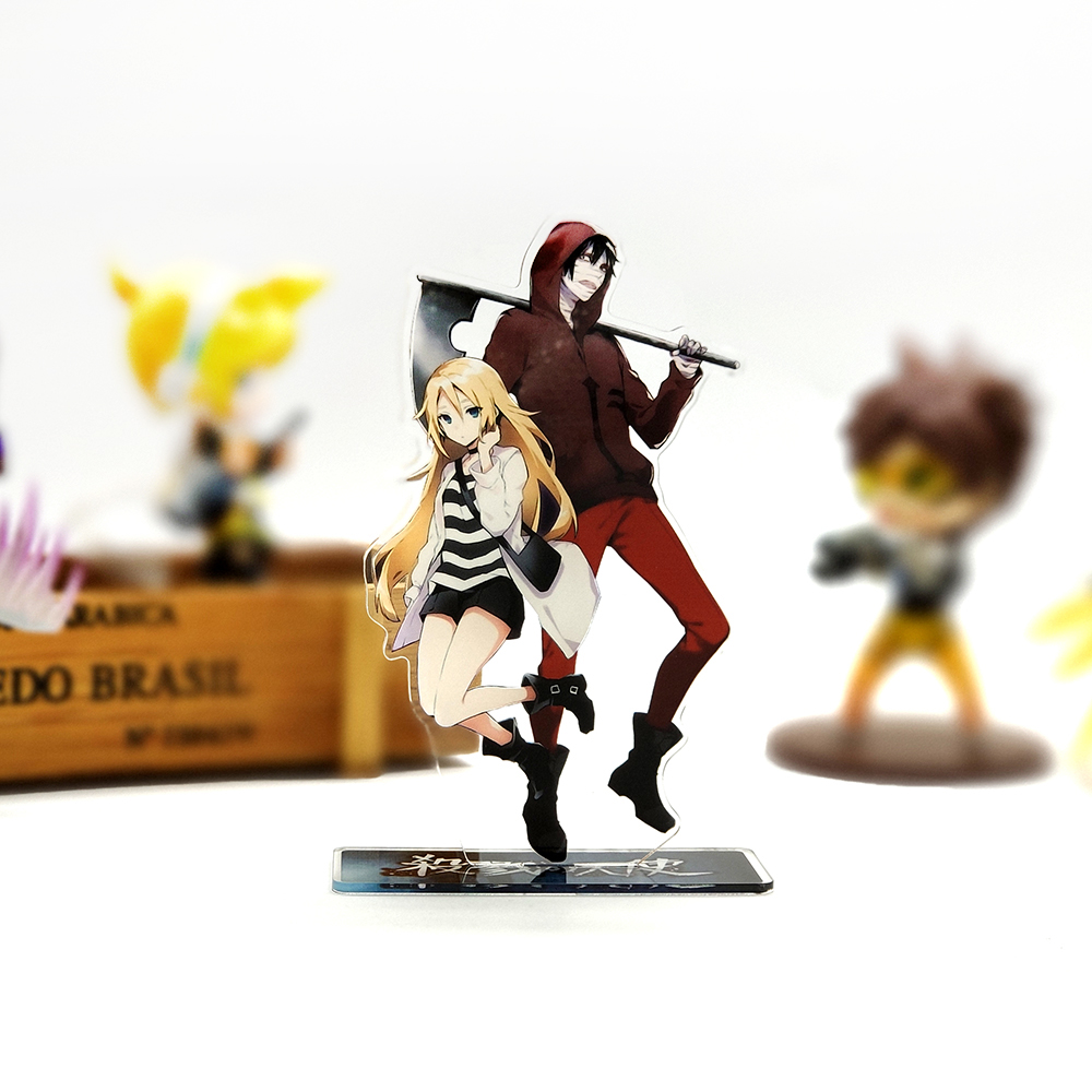 Angels Of Death Zack & Rachel Couple Acrylic Stand Figure Model Plate Holder Cake Topper Anime Japanese Game Cool Cute Waifu