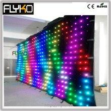 P18 6x3 м продукт RGB Гибкий СВЕТОДИОДНЫЙ экран занавес