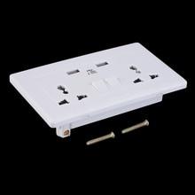 2 Gang Panel de la Placa de Toma de Pared de Doble Puerto USB 1000mA Outlets Universal Plug Alta Calidad