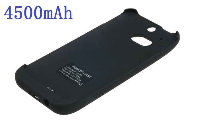 Faster Free Shipping High Quality 4500mAh Backup Battery Power Case for HTC ONE M8 Battery Case