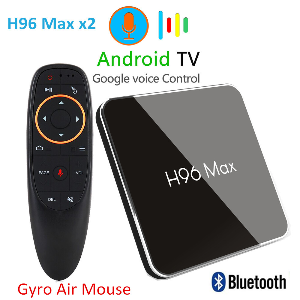 H96 Max X2 Smart TV Box Android 9.0 S905X2 Quad Core 4GB 64GB 5G WiFi USB3.0 H.265 Set Top Box Pk X96 MAX 4K Media Player