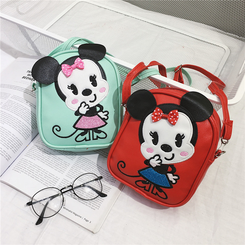 New Disney Mickey mini children bag girl backpack pu cartoon mobile phone bag bag girl handbag baby Kindergarten bag for school Сумка