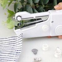 Ручная швейная машина мини-многоцелевая портативная ручная игла швейная машина рукоделие Беспроводная для одежды ткани Швейные машины